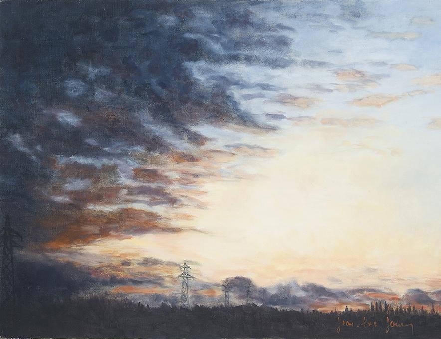 Les Pylônes, 100 x 73 cm