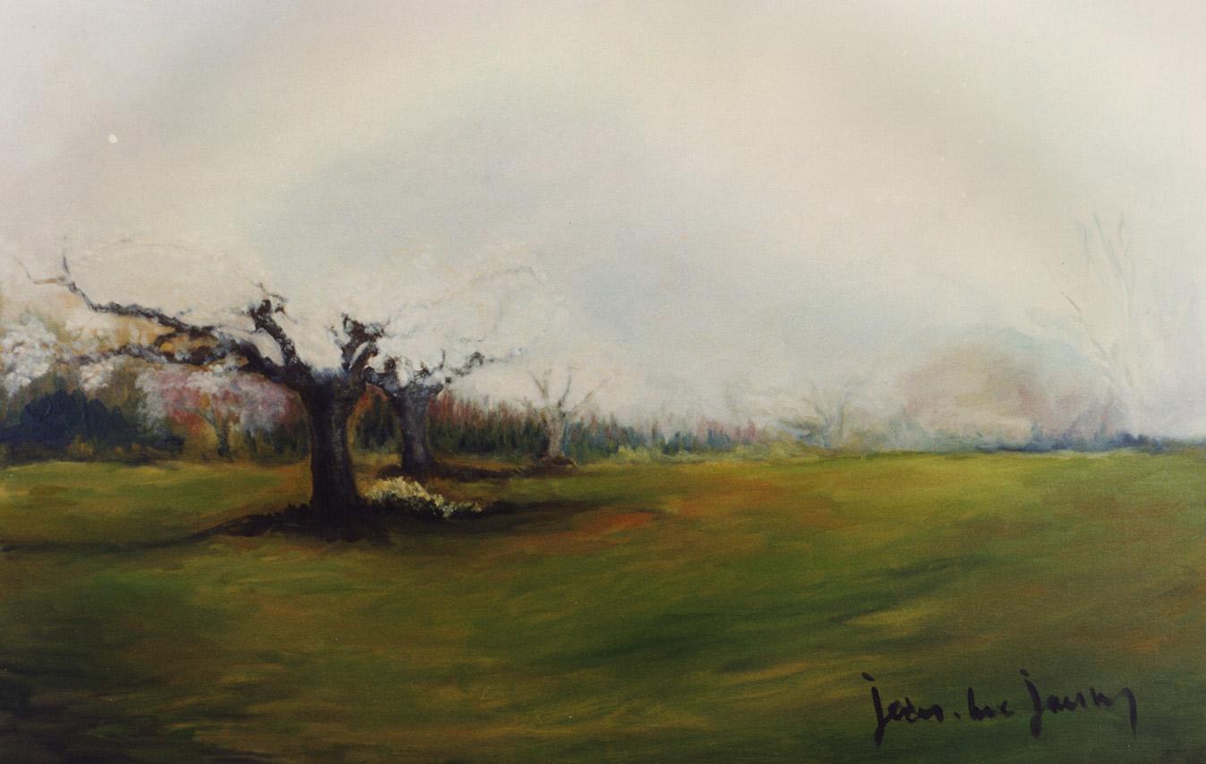Les Cerisiers, 81x65 cm