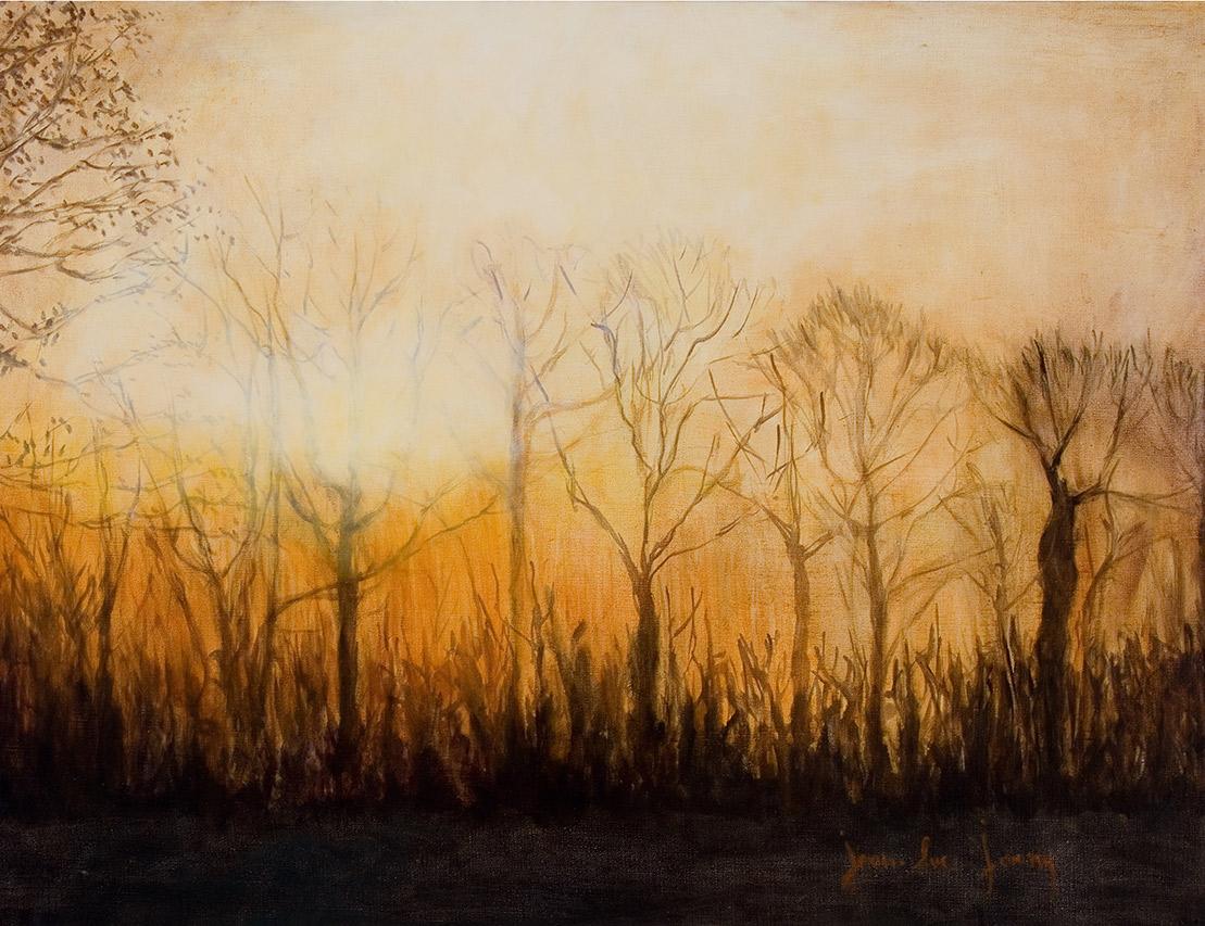 Soleil d'hivers à Rhodes St Genèse, 100 x 73 cm