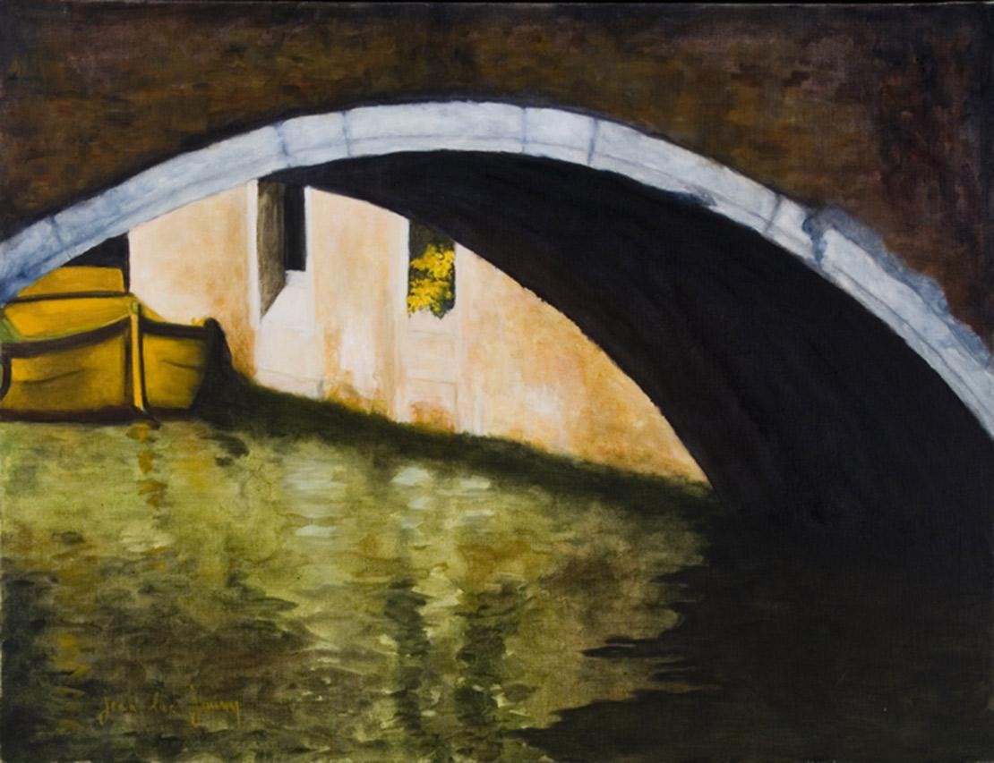 Venise en jaune, 116 x 89 cm