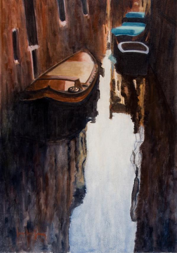 Venise en ocre , 116 x 81 cm