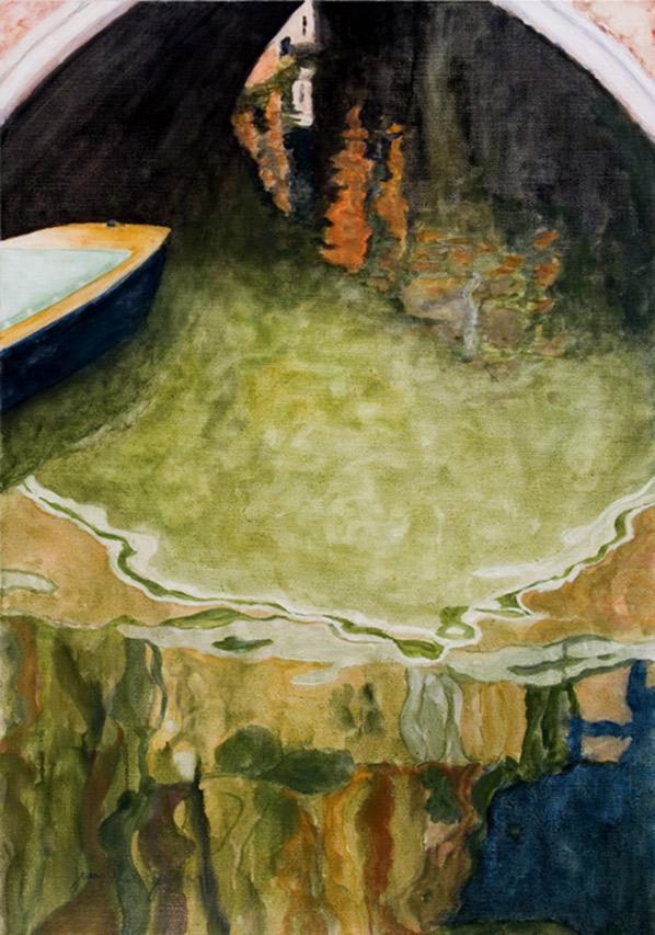 Venise en vert, 116 x 81 cm